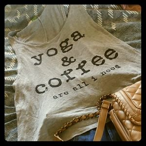 Tank top- yoga and coffee are all I need